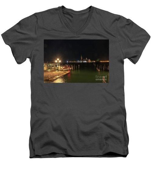 San Giorgio Maggiori At Night Men's V-Neck T-Shirt