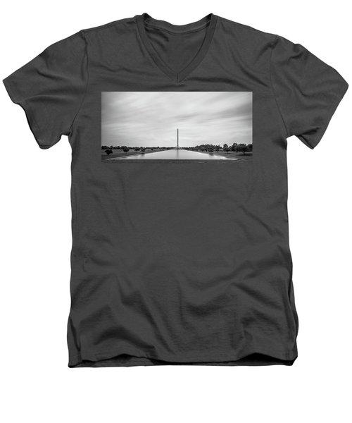 San Jacinto Monument Long Exposure Men's V-Neck T-Shirt