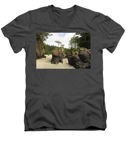 San Josef Stacks Men's V-Neck T-Shirt