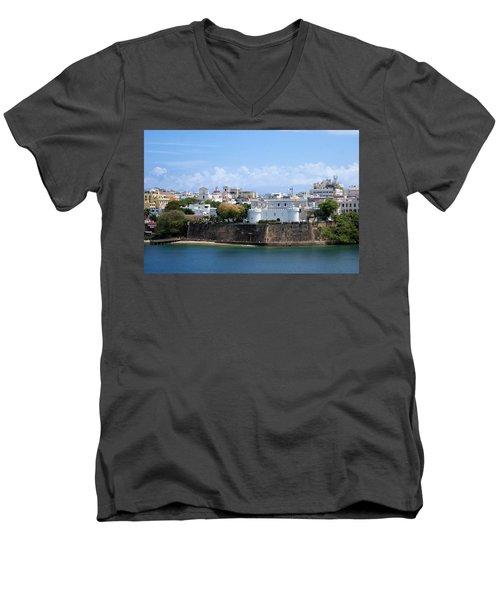 San Juan #1 Men's V-Neck T-Shirt by Lois Lepisto