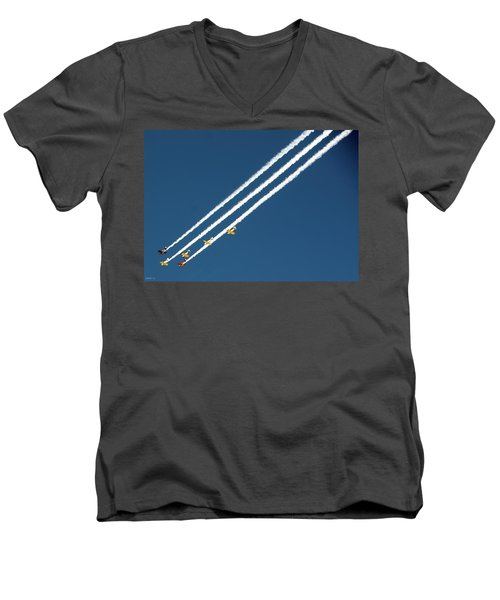 Men's V-Neck T-Shirt featuring the photograph San Juan Aces by Kevin Munro
