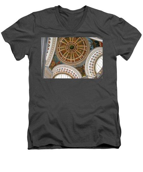 San Juan Capital Building Ceiling Men's V-Neck T-Shirt by Lois Lepisto