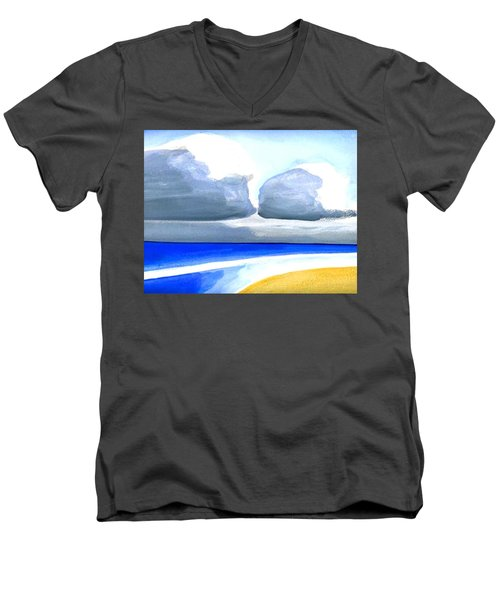 Men's V-Neck T-Shirt featuring the painting San Juan Cloudscpe by Dick Sauer