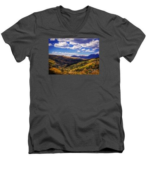 San Juan Colors Men's V-Neck T-Shirt by Janice Rae Pariza