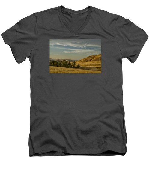 San Luis Reservoir 9891 Men's V-Neck T-Shirt