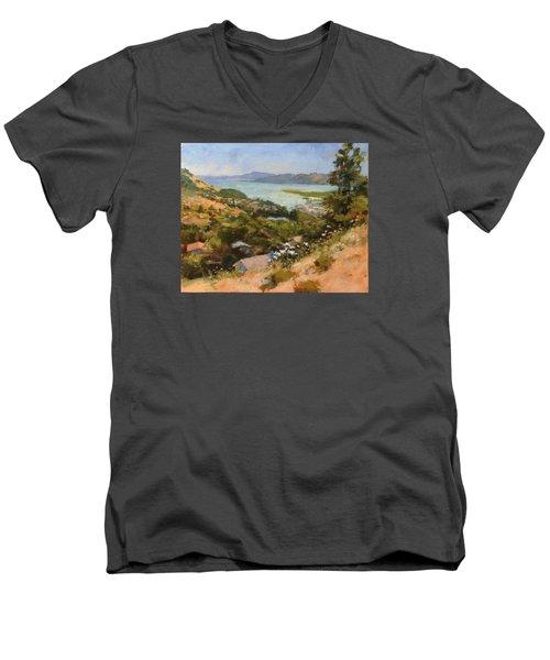 San Rafael Bay From Via La Cumbre, Greenbrae, Ca Men's V-Neck T-Shirt