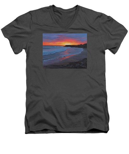 San Simeon Men's V-Neck T-Shirt