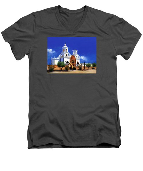 San Xavier Del Bac Mission Men's V-Neck T-Shirt
