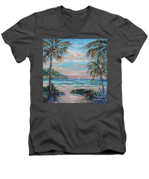 Sand Bank Bay Men's V-Neck T-Shirt