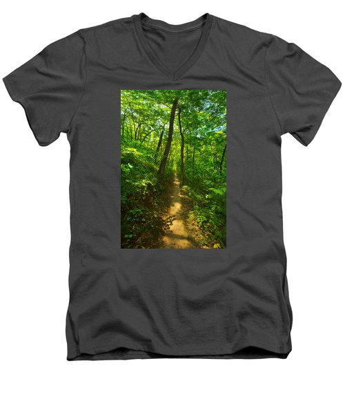 Sand Cave Trail Men's V-Neck T-Shirt by Phil Koch