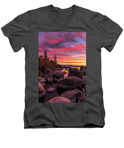 Sand Harbor Beach Men's V-Neck T-Shirt
