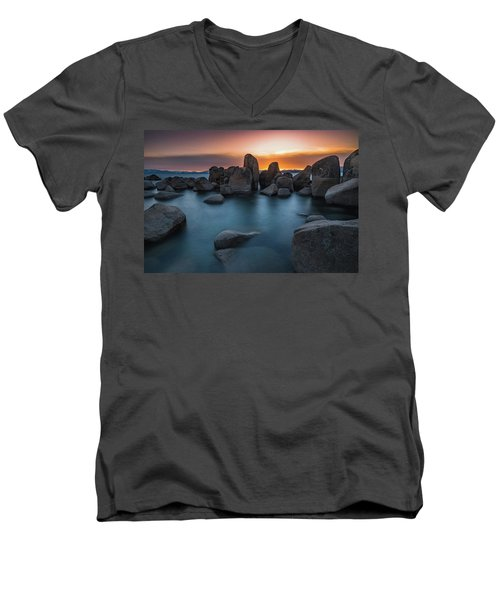 Sand Harbor Sunset Men's V-Neck T-Shirt
