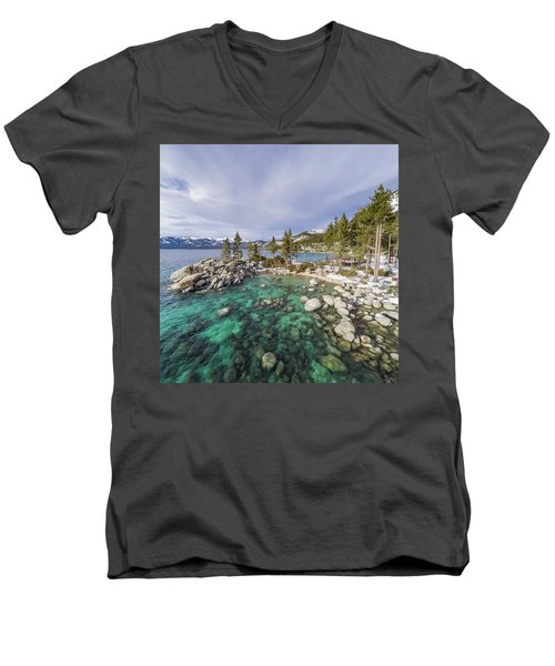 Sand Harbor Views Men's V-Neck T-Shirt