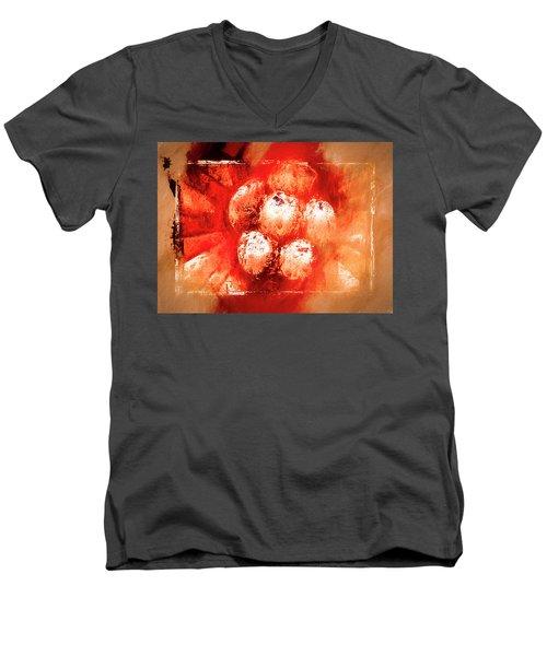 Men's V-Neck T-Shirt featuring the digital art Sand Storm by Carolyn Marshall