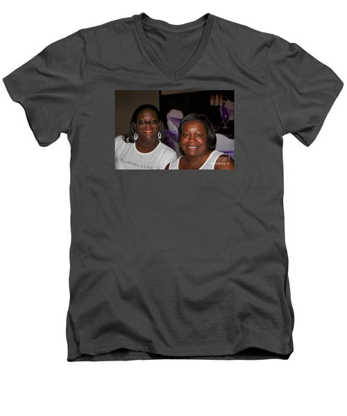 Sanderson - 4526 Men's V-Neck T-Shirt by Joe Finney