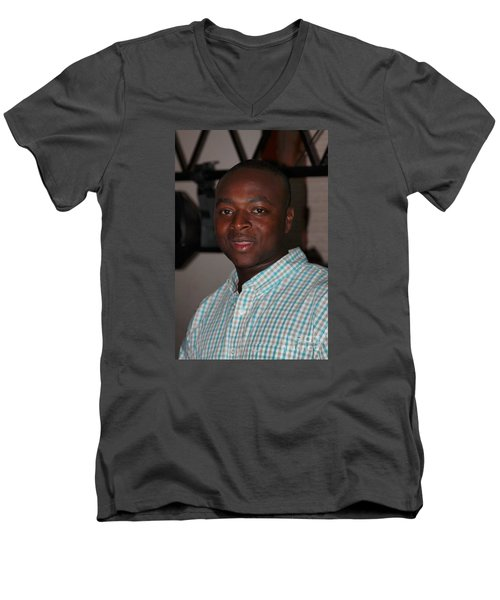 Sanderson - 4541 Men's V-Neck T-Shirt by Joe Finney