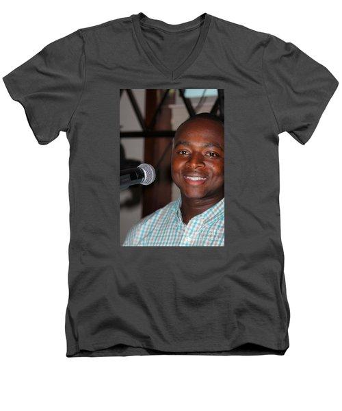 Sanderson - 4542 Men's V-Neck T-Shirt by Joe Finney