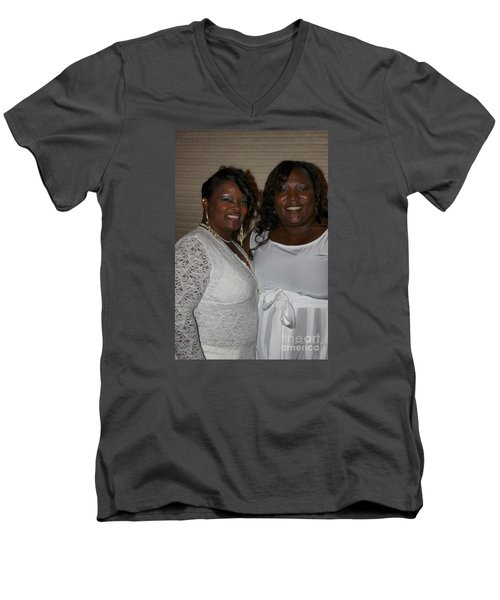 Sanderson - 4543 Men's V-Neck T-Shirt by Joe Finney