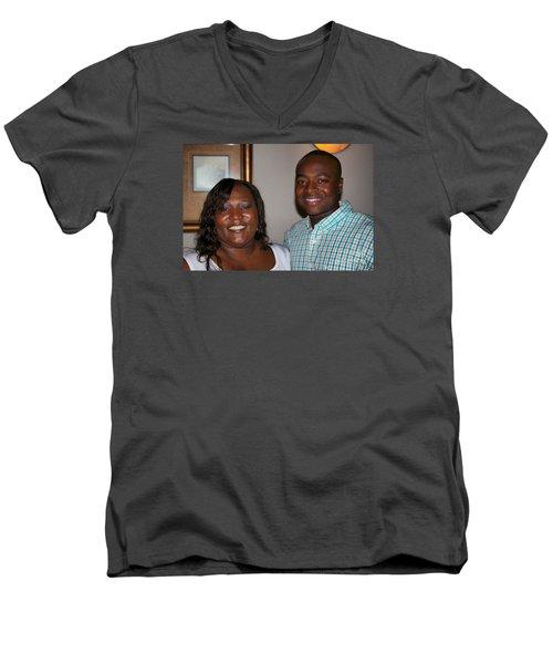 Sanderson - 4545 Men's V-Neck T-Shirt by Joe Finney