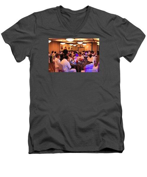 Sanderson - 4559 Men's V-Neck T-Shirt by Joe Finney