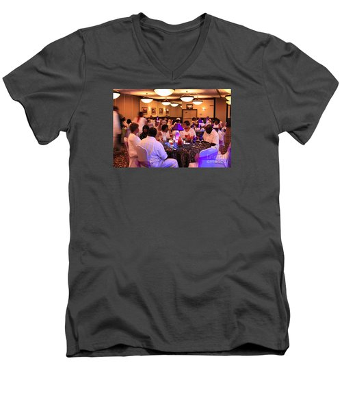 Sanderson - 4561 Men's V-Neck T-Shirt by Joe Finney