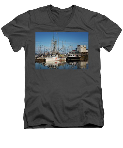 Men's V-Neck T-Shirt featuring the photograph Sandra M And Lasqueti Dawn by Randy Hall