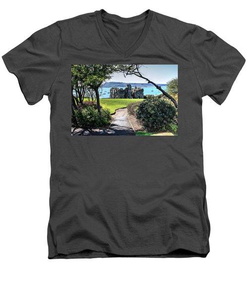 Sandsfoot Castle Weymouth Uk Men's V-Neck T-Shirt