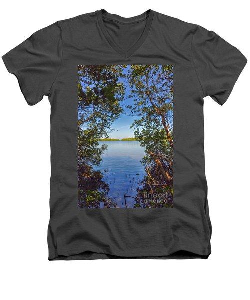 Sanibel Bay View Men's V-Neck T-Shirt