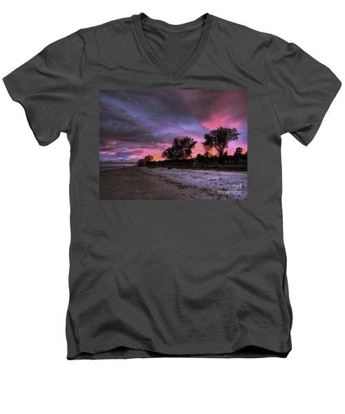 Sanibel Island Twilight Men's V-Neck T-Shirt