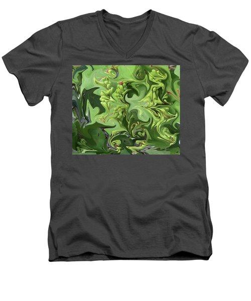 Sanibel Seagrapes Men's V-Neck T-Shirt by Melinda Saminski