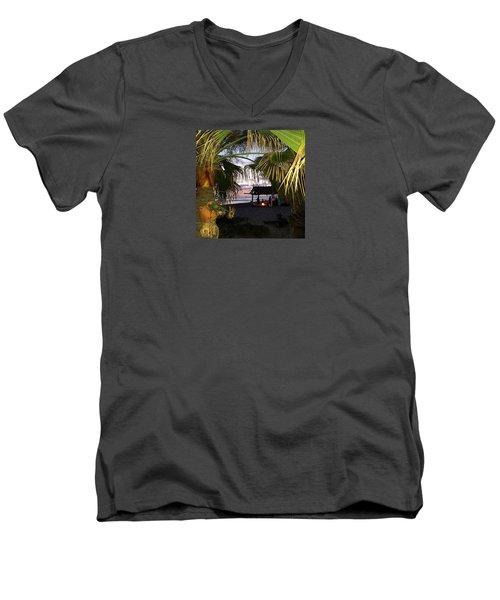 Sano Shack Sunset Men's V-Neck T-Shirt