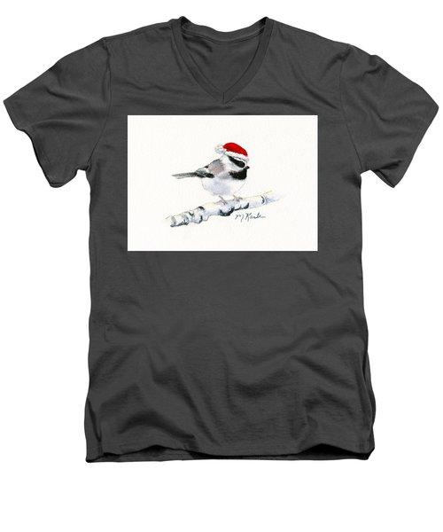 Santa Bandit - Chickadee Men's V-Neck T-Shirt