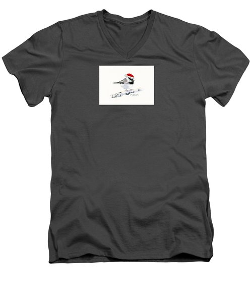Santa Bandit - Chickadee Men's V-Neck T-Shirt