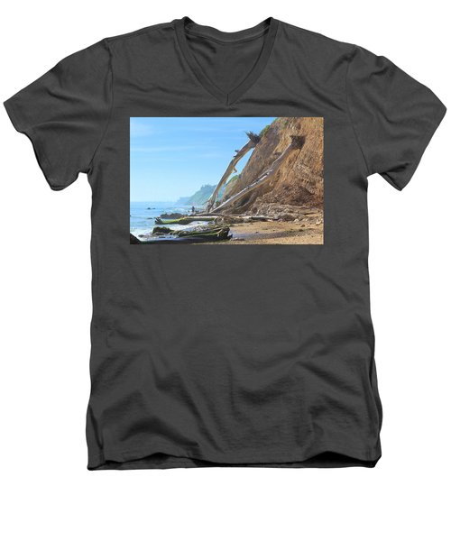 Men's V-Neck T-Shirt featuring the photograph Santa Barbara Coast by Viktor Savchenko