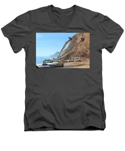 Santa Barbara Coast Men's V-Neck T-Shirt by Viktor Savchenko