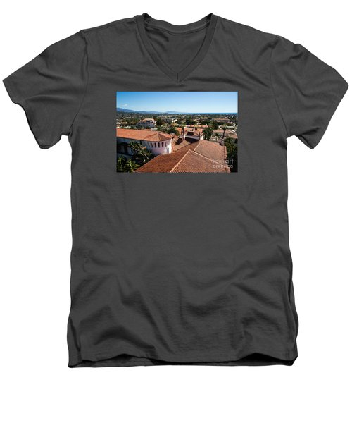 Santa Barbara From Above Men's V-Neck T-Shirt
