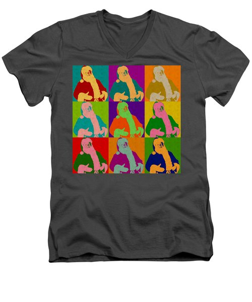 Santa Claus Andy Warhol Style Men's V-Neck T-Shirt