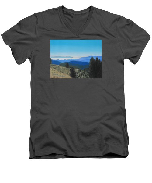 Santa Cruz Mountains Looking To Monterey Bay Men's V-Neck T-Shirt