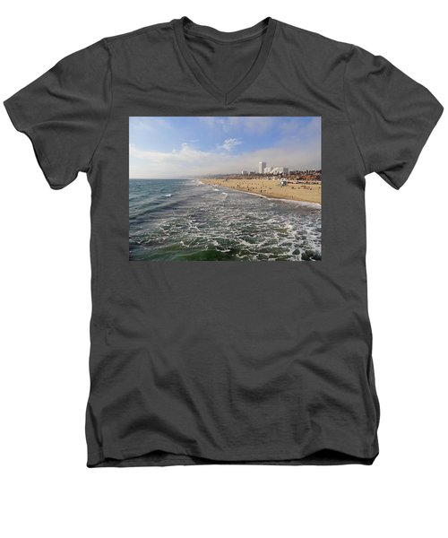 Santa Monica Beach Men's V-Neck T-Shirt