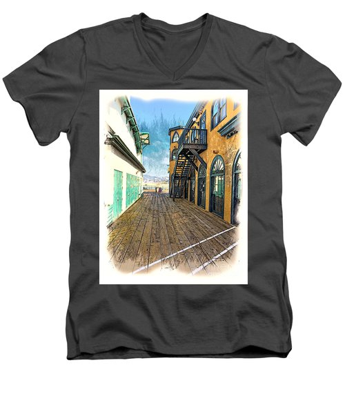 Santa Monica Pier Ver 3 Men's V-Neck T-Shirt