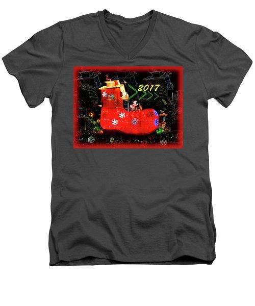 Santa's Magic Stocking Men's V-Neck T-Shirt