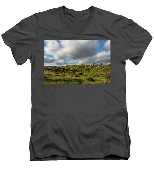 Santee Rocks Spring Men's V-Neck T-Shirt
