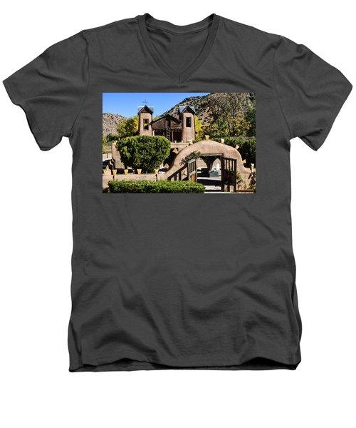 Santuario De Chimayo Men's V-Neck T-Shirt