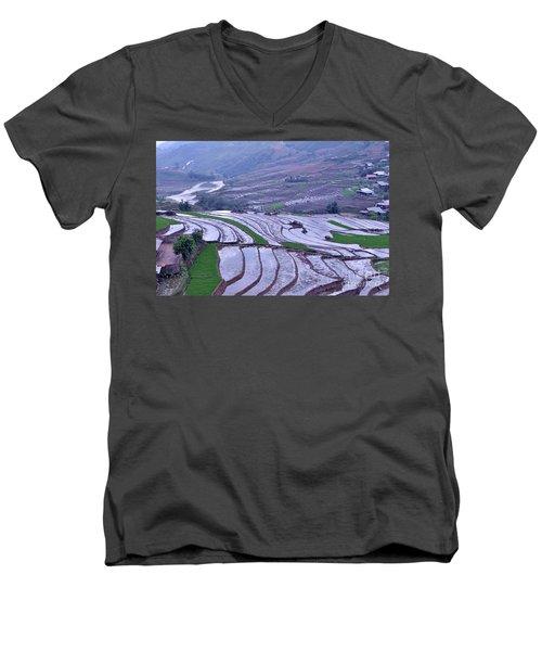 Sapa Rice Paddies Men's V-Neck T-Shirt
