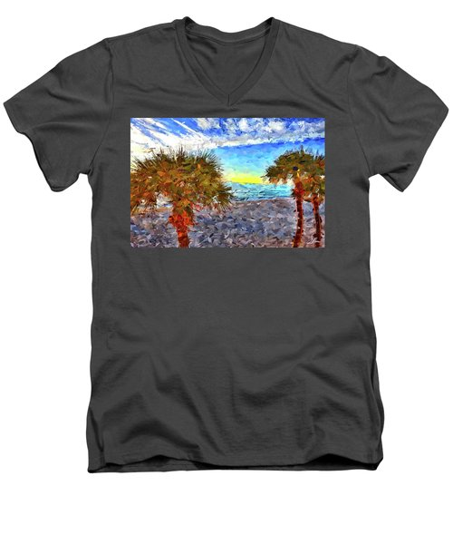 Sarasota Beach Florida Men's V-Neck T-Shirt