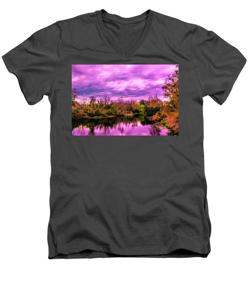 Men's V-Neck T-Shirt featuring the photograph Sarasota Symphony 2 by Madeline Ellis