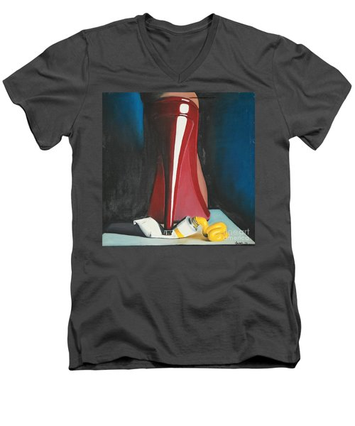Sassy Shoe Men's V-Neck T-Shirt by Jacqueline Athmann