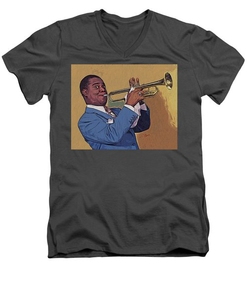 Satchmo Men's V-Neck T-Shirt