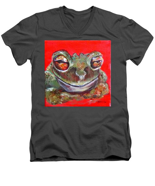 Satisfied Froggy  Men's V-Neck T-Shirt
