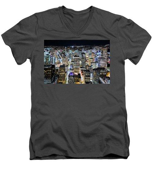 Seattle Lights Men's V-Neck T-Shirt